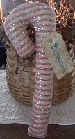 PRIMITIVE 4 PC. GLITTERED CANDY CANES