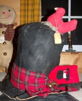 PRIMITIVE SNOWMAN HAT