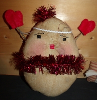 PRIMITIVE BUTTERBALL GINGERBREAD DOLL