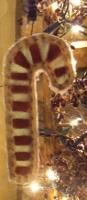 PRIMITIVE CANDY CANE FLAT ORNIE