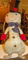 PRIMITIVE BIG SNOWMAN DOLL
