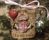 IT'S MY PARTY CLAY PENDANT