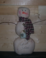 PRIMITIVE LET IT SNOW SNOWMAN